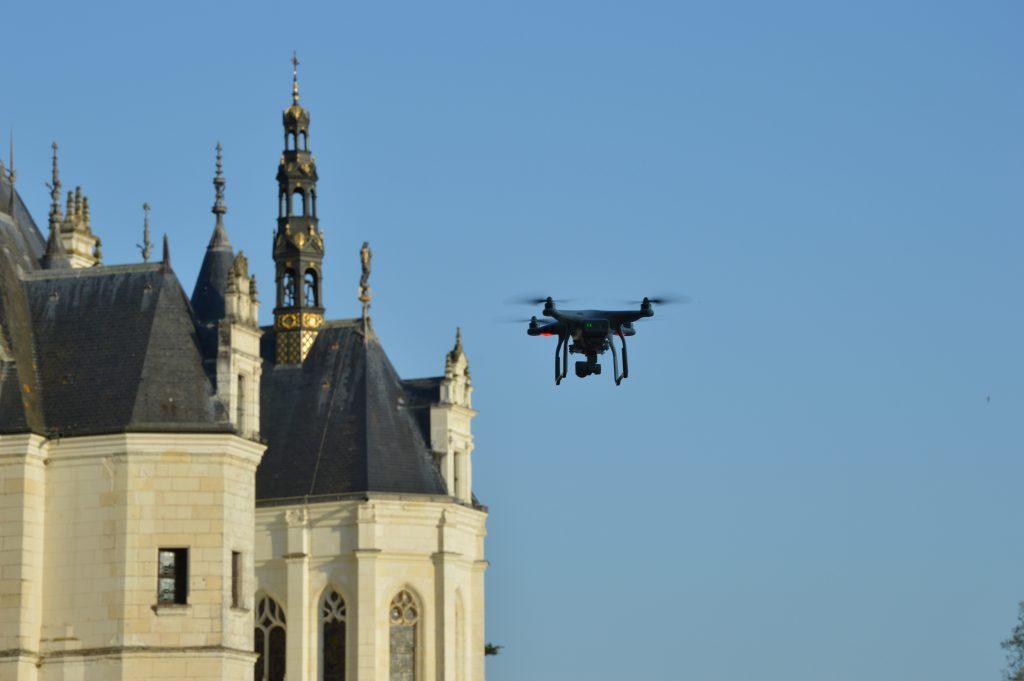 Photo d'un drone survolant le Château de Chenonceau